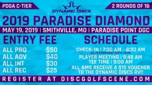 Dynamic Discs Presents: 2019 Paradise Diamond graphic