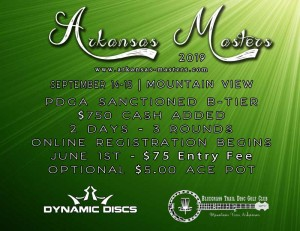 2019 Arkansas Masters Sponsored by Dynamic Discs (GDG $5k/$10k Ace Event) graphic