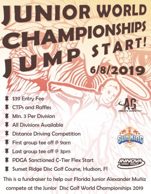 Above Gravity presents Junior World Championships Jump Start Driven by Innova graphic