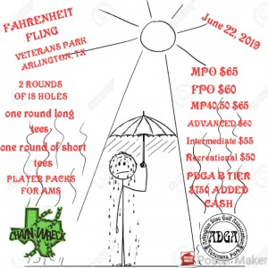 17th Fahrenheit Fling presented by Texas Chainwreck and Arlington Disc Golf Assoc. graphic