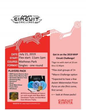MVP Circuit Challenge @ Mathews Park graphic