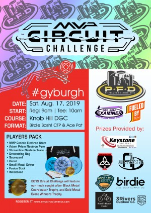 2019 Pittsburgh Flying Disc MVP Circuit Challenge graphic
