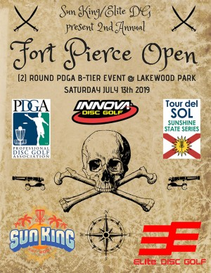 Sun King/Elite Disc Golf present 2nd Annual Ft. Pierce Open Driven by Innova graphic