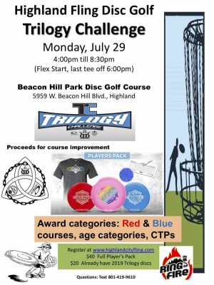 Trilogy Disc Golf Tournament (A Highland Fling Event) graphic