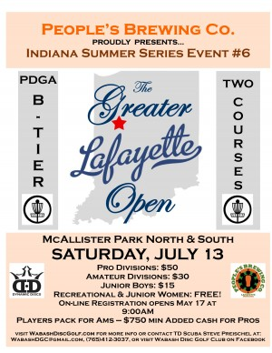 ISS #6 People's Brewing Co. presents The 2019 Greater Lafayette Open graphic