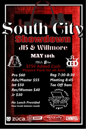 Smokin Aces presents South City Showdown: Sponsored by Dynamic Discs graphic