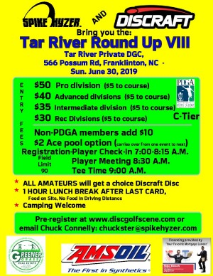 Spike Hyzer's: Tar River Round Up VIII Presented By Discraft graphic