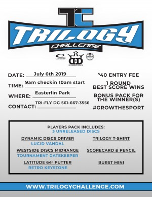 Easterlin Park Trilogy Challenge powered by TRI-FLY Disc Golf graphic
