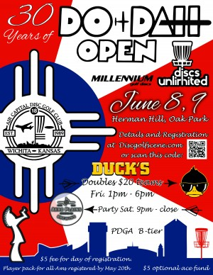 30th Annual DooDah Open powered by Millennium and Discs Unlimited graphic