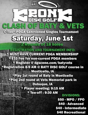 Clash of Baty Vets presented by Kronk Disc Golf graphic