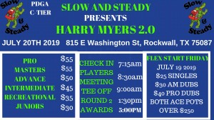 Harry Myers 2.0 presented by Slow and Steady DG graphic