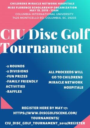 CIU Disc Golf Tournament graphic