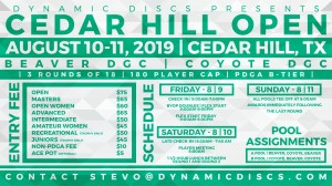 Dynamic Discs Presents the Cedar Hill Open graphic