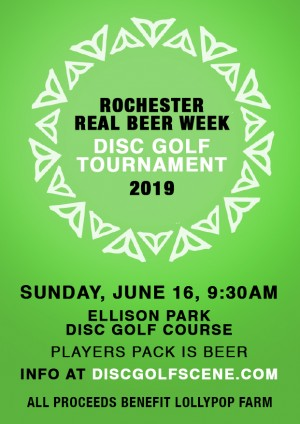 Rochester Real Beer Week Charity Tournament graphic