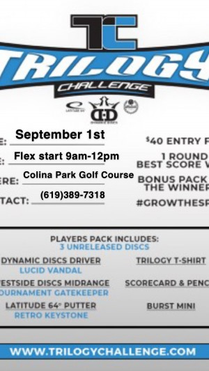 2019 Trilogy Challenge at Colina Park Golf Course (Canceled) graphic