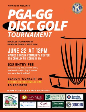 Conklin Kiwanis PGA-GG Random Draw Doubles Disc Golf Tournament graphic