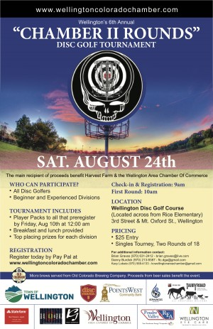 6th Annual 'Chamber 2 Rounds' Disc Golf Tournament graphic