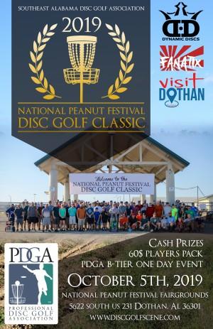 2019 National Peanut Festival Disc Golf Classic graphic