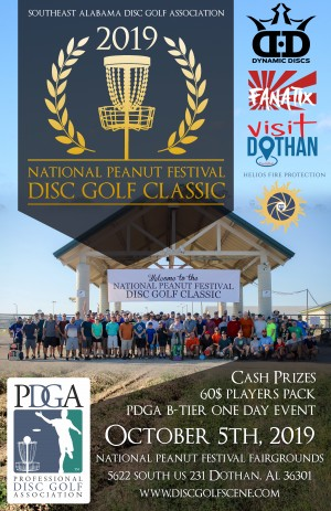 2019 National Peanut Festival Disc Golf Classic graphic