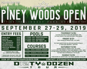 Dynamic Discs and the Rose City Disc Club Presents the Piney Woods Open graphic