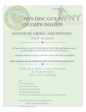NYS Disc Golf Championships graphic