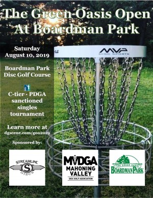 The Green Oasis Open at Boardman Park Sponsored by Streamline Discs graphic