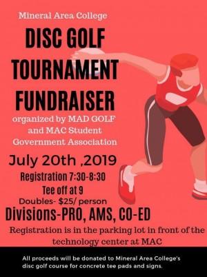 Mineral Area College Fundraiser Tournament graphic