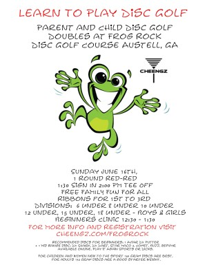 Parent & Child Dubs at Frog Rock 7-14-19 graphic