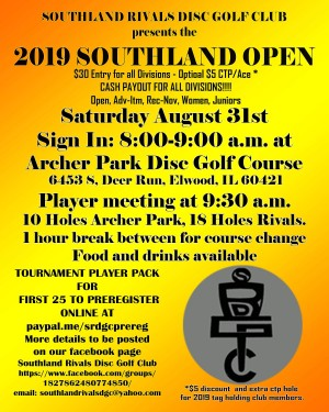 2019 Southland Open graphic