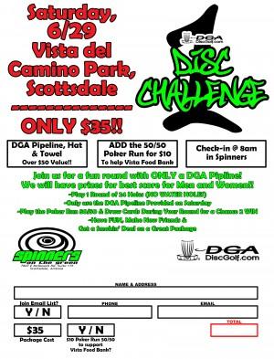 DGA One Disc Challenge graphic