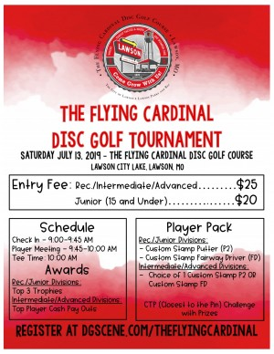 The Flying Cardinal Disc Golf Tournament graphic