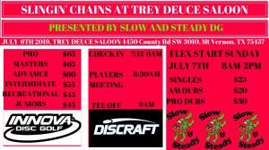 Slingin' Chains at Trey Duece Saloon graphic