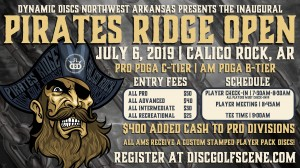 Dynamic Discs NWA Presents: Inaugural Pirates Ridge Open graphic