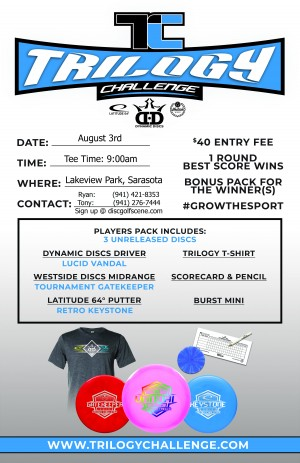 The 2019 Trilogy Challenge Extravaganza at Lakeview Park hosted by Lucky Shot Disc Golf graphic
