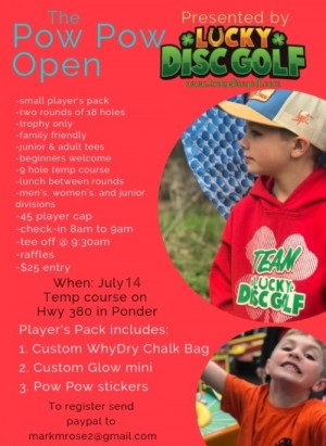 """The Pow Pow Open"" Presented By Lucky Disc Golf graphic"