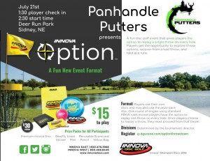 Panhandle Putters Innova Option Throwdown graphic
