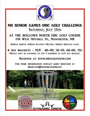 The New Hampshire Senior Games Disc Golf Challenge graphic