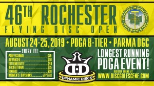 46th Rochester Flying Disc Open presented by Dynamic Discs (RFDO) graphic
