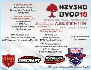 Hazy Shade 18th BYOP Doubles Rec/Int Sponsored by Innova/Discmania&Discraft graphic