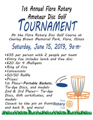 Flora Rotary Disc Golf Tournament graphic