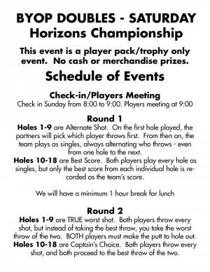 Horizon's DOUBLES Championship - Driven by Innova graphic