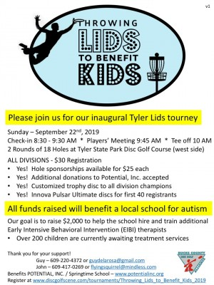 Throwing Lids to Benefit Kids graphic