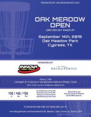 Oak Meadow Open Driven by Innova graphic