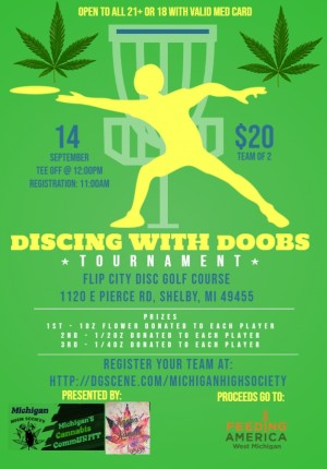 Discing With Doobs Presented By: Michigan High Society/Michigan's Cannabis CommUNITY graphic