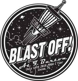 Sun King/Discalibur present Blast Off at F. Burton Driven by Innova graphic