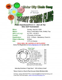 Stony Spring Fling graphic