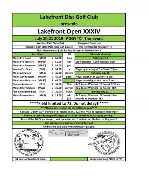 Lakefront Open XXXIV graphic