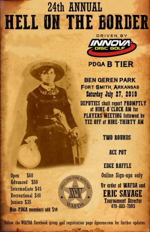 24th Annual Hell on the Border Driven by Innova Disc Golf graphic
