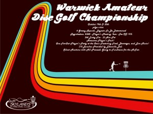 Warwick Amateur Disc Golf Championships graphic
