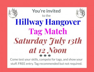 Hillway Hangover Tag Match 12 Noon graphic